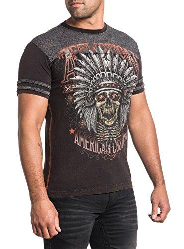 Affliction T-Shirt Minds Eye Braun/Grau Grau