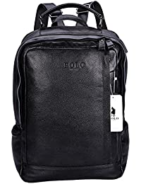 879bb0fb4a VIDENG POLO Top Grain Cowhide Leather Laptop Backpack with USB Charge Port    Eerphone Jack Casual