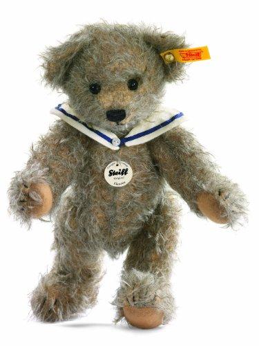 Steiff 027604 - Classic Teddybär Hannes, grau meliert, 24 cm