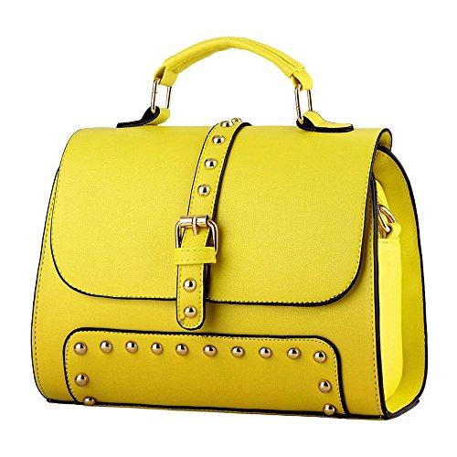 koson-man-womens-vintage-buckle-sling-tote-bags-top-handle-handbagyellow