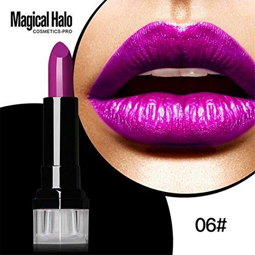 Lippenstift, Moonuy Magic Halo Lipstick Frosted Feuchtigkeitsspendende Lippenstift Wasserdichte Lip...