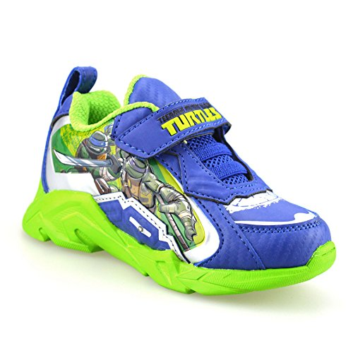 boys-kids-teenage-mutant-ninja-turtles-casual-summer-light-up-trainers-shoe-sizeuk-10-infantblue-gre