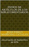 Libros Descargar en linea Indice de articulos de los Biblicomentarios Actualizacion de Septiembre de 2016 (PDF y EPUB) Espanol Gratis