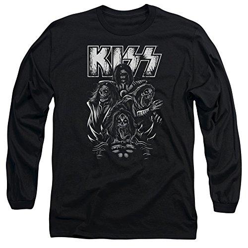 Kiss - Herren-Schädel-T-Shirt Black