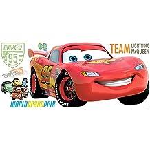 RoomMates RMK1582GM RM - Disney Cars 2 Lightning McQueen Wandtattoo, PVC, bunt, 48 x 13 x 2.5 cm