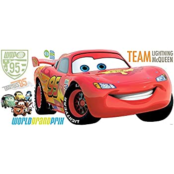 Beautiful RoomMates Disney Cars 2 Giant Lightning McQueen Wall Sticker Part 19