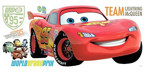 RM - Disney Cars 2 Lightning McQueen Wandtattoo, PVC, bunt, 48 x 13 x 2.5 cm (Disney Halloween-dekor)
