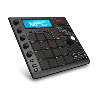Akai Professional MPC Studio Black - Ultra-Portable MPC With MPC Software (Download), USB Power, LCD Screen, Touch Sensitive Encoders, Brushed Aluminium Body & Data Dial and Neoprene Sleeve Included