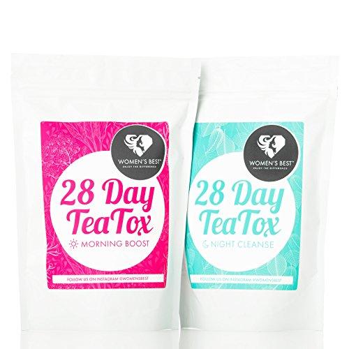 Premium Tee für ein besseres Wohlbefinden | 28 Tage Day & Night Kur | Natürliche Kräuter und Inhaltsstoffe - Fit mit Grüner Tee & Guarana | Entspannung mit Lavendel & Melisse