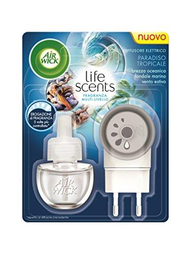 Air Wick - Base Life Scents, Diffusore Elettrico e Ricarica, Paradiso Tropicale - 2 confezioni