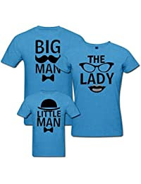 PepperClub Cute Family Tshirt - Set of 3 For Mom Dad and Son