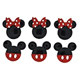 Disney Mickey & Minnie Glitzer–Neuheit Craft Tasten & Verzierungen von Kleid IT UP