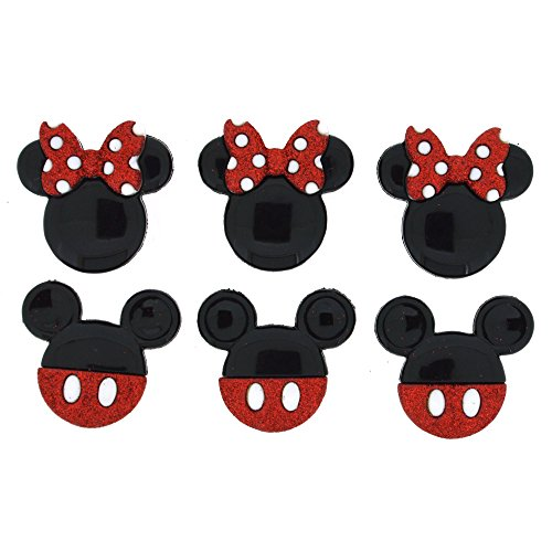 (Disney Mickey & Minnie Glitzer – Neuheit Craft Tasten & Verzierungen von Kleid IT UP)