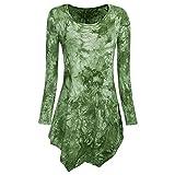 Weant Women Sweatshirt Dresses Tie Dyed Hankerchief Hemline Pullover Sweatshirt Tops Jumper Womens Sale Clearance Teen Girl T Shirt Tunic Dresses (Green, L)