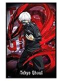 Tokyo Ghoul glänzendes schwarz eingerahmtes Ken Kaneki Maxi Poster 61 x 91,5 cm