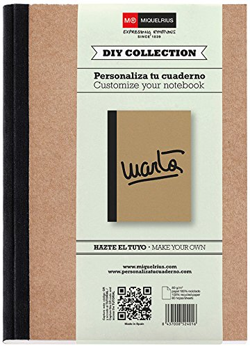 "Miquelrius 2196 - Cuaderno bloc ""do it yourself"", A5 80, carton reciclado (1 Unidad)"