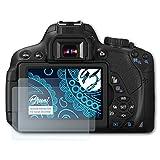 Bruni Schutzfolie für Canon EOS 650D / Rebel T4i Folie - 2 x glasklare Displayschutzfolie