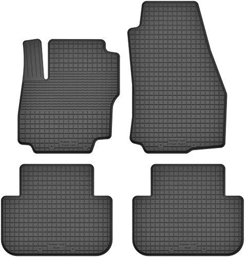 KO-RUBBERMAT Gummimatten Fußmatten 1.5 cm Rand geeignet zur Ford Galaxy II (Bj.2006-2015) ideal angepasst 4 -Teile EIN Set
