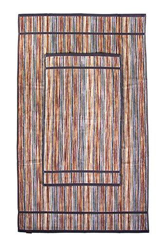 Missoni Home Ronan 160 telo bagno 100x160 a righe sui toni del marrone