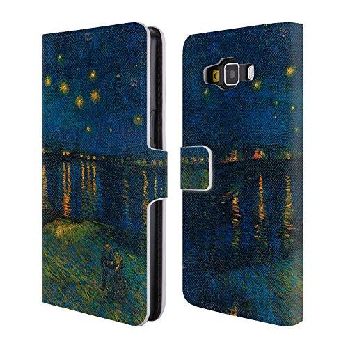 Offizielle Masters Collection Starlight Over The Rhone Bilder 2 Brieftasche Handyhülle aus Leder für Samsung Galaxy A5