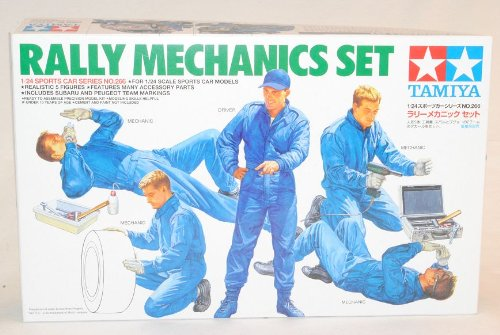 TAMIYA Figuren Mechaniker Rally 24266 Kit Bausatz 1/24 Modell Auto Modell Auto