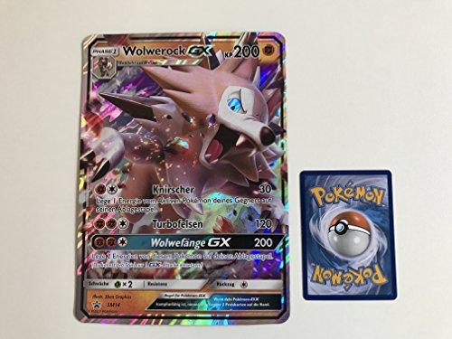 übergroße holografische Karte Wolwerock GX SM14 200KP (Neue Pokemon Karten Ex Mega)