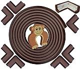 Protezione Contro Spigoli e Angoli EXTRA-LUNGA, EXTRA-DENSA - 6,2 m di Copertura con 8 Proteggi-Angoli Adesivi | MARRONE CAFFÈ | La Miglior Protezione Bambini per la Casa