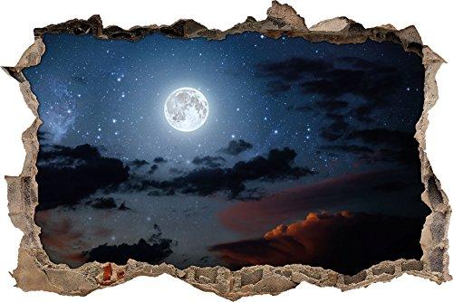 Nachthimmel Wanddurchbruch im 3D-Look, Wand- oder Türaufkleber Format: 92x62cm, Wandsticker, Wandtattoo, Wanddekoration (Schnelle Und Einfache Halloween-looks)