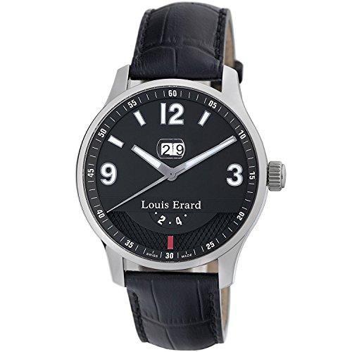 Louis Erard 1931 82224AA02.BDC51 44mm Automatic Stainless Steel Case Black Calfskin Anti-Reflective Sapphire Men's Watch