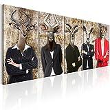 murando - Bilder Abstrakt Tiere 200x80 cm - Vlies Leinwandbild - 5 Teilig - Kunstdruck - modern - Wandbilder XXL - Wanddekoration - Design - Wand Bild - Tier h-C-0058-b-m