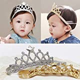 SwirlColor 2x Bambini Ragazze principessa Corone fasce Hairband Accessori per capelli