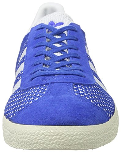 adidas Gazelle Primeknit, Scarpe da Ginnastica Basse Uomo, Blau Blu (Blue/footwear White/chalk White)