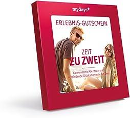 mydays Erlebnis-Gutschein Zeit ZU Zweit / 2 Personen / 80 Erlebnisse an über 420 Standorte/Geschenkidee für Paare