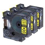 3 Nastro Compatible con Dymo D1 Standard - Etichette Cassette 45018 Nero su Giallo 12mm x 7m per LabelManager LabelPoint LabelWriter für DYMO LabelPOINT & LabelManager LM100 / LM120P / LM150 / LM160 / LMPC2