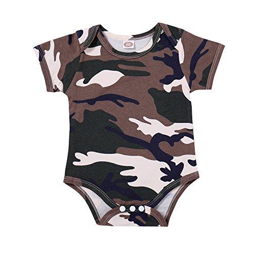OVINEE Neugeborenes Mädchen Kleidung Kleinkind Baby Mädchen One Piece Footies Jungen Overall Infant Outfits Camo Strampler