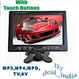 """9"""" TFT LED Screen Home,Office,Car TV Monitor(With Touch Buttons & Remote) SD,USB player,AUX out,AV Slots,FM,TV, MP3,MP4,MPG Player"""