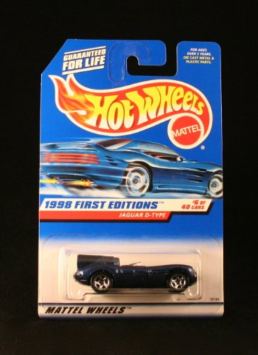 JAGUAR D-TYPE * BLUE * 1998 FIRST EDITIONS SERIES #6 of 40 HOT WHEELS Basic Car 1:64 Scale Series * Collector #638 *