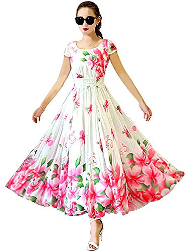 Dresses for women western wear for party Designer Today offers in Low Price sale White Color Faux Georgette with Inner Fabric Free Size Printed Frock