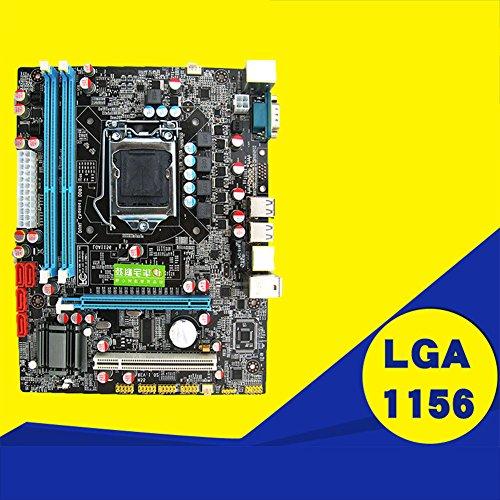 Price comparison product image Ocamo P55 Motherboard CPU LGA 1156 Pin 2xDDR3 1xRJ45H55 Desktop Motherboard with USB Port
