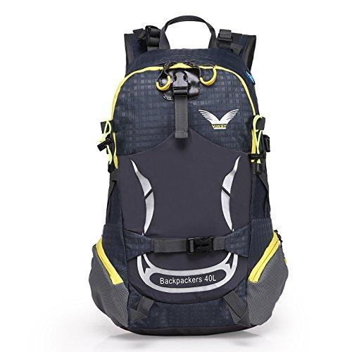 sfeibo 40L zaino in nylon impermeabile outdoor sport ciclismo campeggio arrampicata zaino stampa borsa da viaggio escursionismo Confezione, Green darkblue