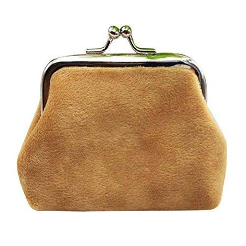Hunpta Womens Cord kleine Brieftasche Halter Münze Handtasche Clutch Handtasche Tasche Braun