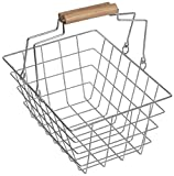 Kaufladen Zubehör - Einkaufskorb aus Metall