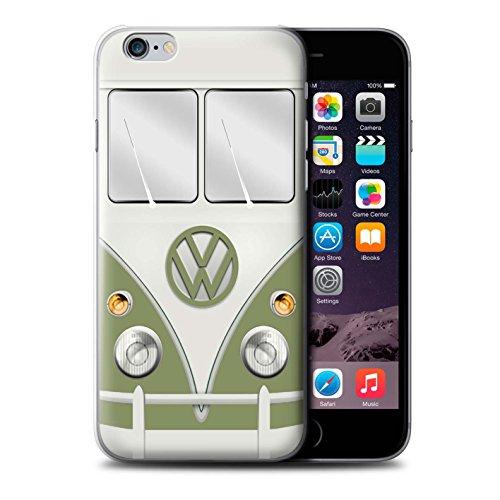 Stuff4 Hülle / Case für Apple iPhone 6 / Fjord Blau Muster / Retro T1 Wohnmobil Bus Kollektion Mango Grün