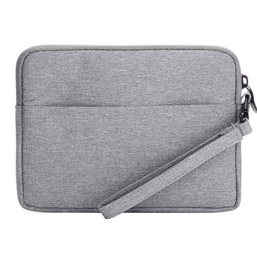 Xuanbeier 6 Zoll E-Book Hülle Ultrabook Case Transport Case Travel Verdicken Tragbare Tasche für 6-Zoll-Tablet,Festplatten, Kabel,Telefon,Karte,Hellgrau