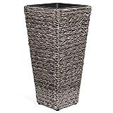 Vanage - Pots de Fleurs / Plantes - Jardinière en plastique - Pour l'intérieur et l'extérieur - Parfaite pour l'Entrée, Jardin, Balcon ou Terasse - Design classe et intemporel !