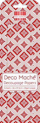 rosso-natale-geometrica-deco-mache-x-3-tessuto-patch-di-carta-prima-edizione-craft