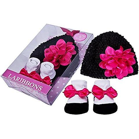 Laribbons Infant Essentials neonate Crochet cappello e Calzini Gift