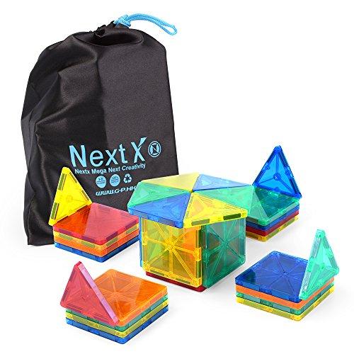 Preisvergleich Produktbild Magnete kinder Spielzeug - NextX 3D Magnetic Fliesen Bausteine Spielzeug ab 2 jahren Geschenke (32 Stücke)