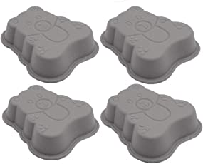 4-teilige Bear Silikon Kuchenform
