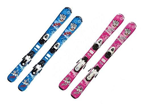 Kinderski Mädchen Tecno Skitty 80cm rosa + Bindung TC45 Kinder Ski Alpinski